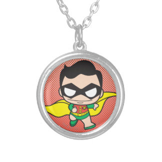Mini Robin Silver Plated Necklace