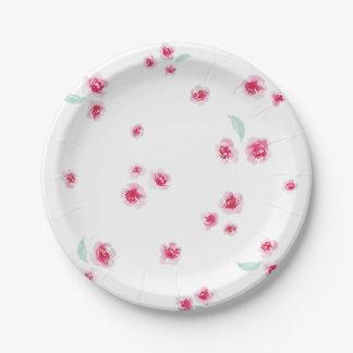 Mini Rose Paper Plate