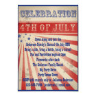 Mini Rustic Broadside Poster Style 4th of July Card