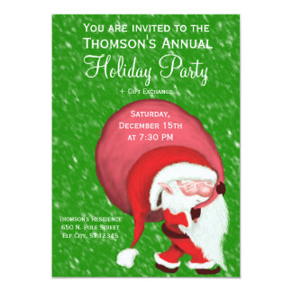 Mini Santa - The Cutest Santa Ever! 13 Cm X 18 Cm Invitation Card