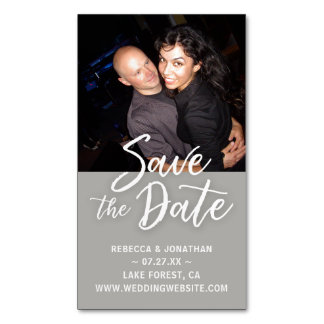 Mini Save the Date Magnets Cheap | Gray Wedding