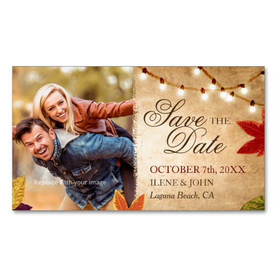 Mini Save the Date Magnets Cheap | Rustic