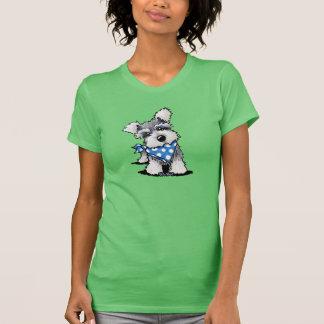 Mini Schnauzer In Dots T-Shirt