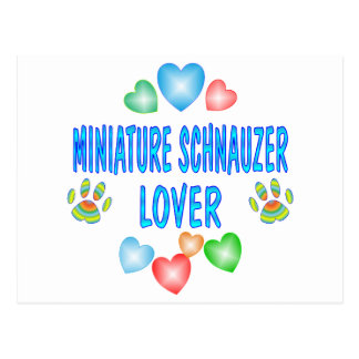 MINI SCHNAUZER LOVER POSTCARD
