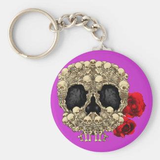 Mini Skeletons Sugar Skull Keychain