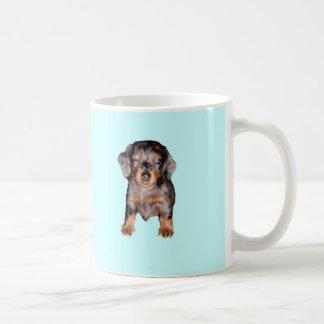 Mini Sleepy Dachshund Basic White Mug