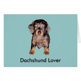Mini Sleepy Dachshund Greeting Card
