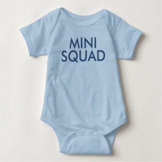 Mini Squad Cute Blue Boy Slogan Bodysuit