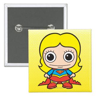 Mini Supergirl 15 Cm Square Badge
