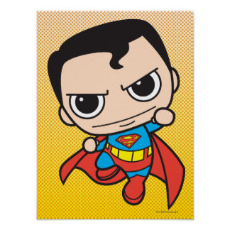 Mini Superman Flying Poster