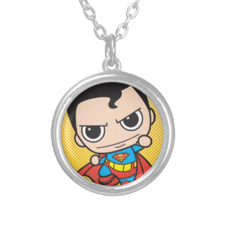 Mini Superman Flying Silver Plated Necklace