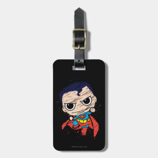 Mini Superman Sketch - Flying Luggage Tag