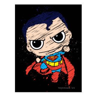 Mini Superman Sketch - Flying Postcard