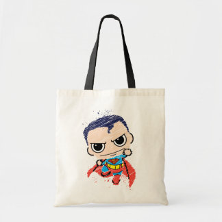 Mini Superman Sketch - Flying Tote Bag