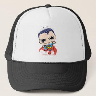 Mini Superman Sketch - Flying Trucker Hat