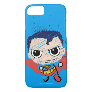 Mini Superman Sketch iPhone 8/7 Case