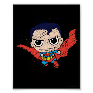 Mini Superman Sketch Poster