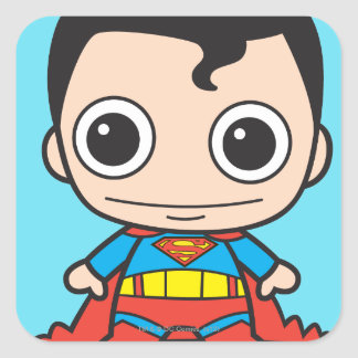 Mini Superman Square Sticker