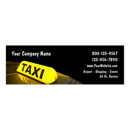 Mini Taxi Business Cards