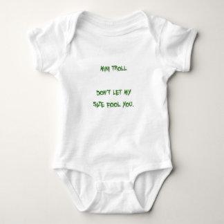 mini troll baby bodysuit