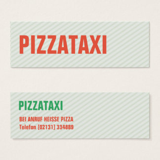Mini visiting cards PIZZA