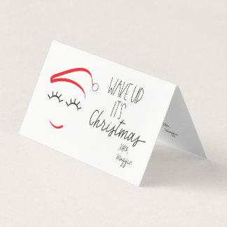 "MINI -Wake Up It's Christmas"" Lashes Card"
