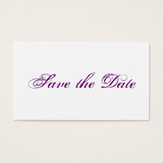 Mini wedding save the DATE cards in PUR-polarizes