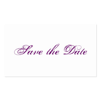 Mini wedding save the DATE cards in PUR-polarizes Pack Of Standard Business Cards