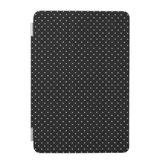 Mini White Polka Dots in Black Decor iPad Mini Cover