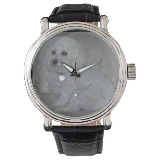 Mini White Poodle Wrist Watch