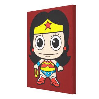 Mini Wonder Woman Canvas Print