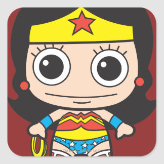 Mini Wonder Woman Square Sticker