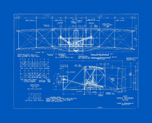 Blueprint wrapping paper zazzle flyer blueprint pattern 1903 wrapping paper malvernweather Image collections