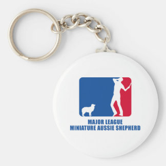 Miniature Australian Shepherd Basic Round Button Key Ring