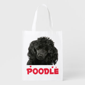 Miniature Black Poodle Puppy Dog Tote Bag
