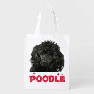 Miniature Black Poodle Puppy Dog Tote Bag