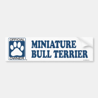 Miniature Bull Terrier Blue Bumper Sticker