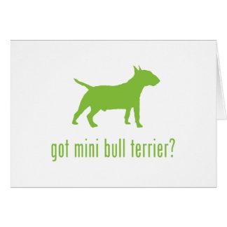 Miniature Bull Terrier Card
