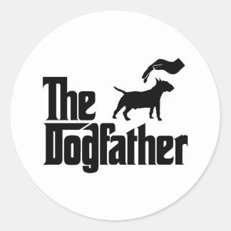 Miniature Bull Terrier Classic Round Sticker