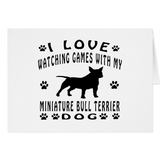 Miniature Bull Terrier designs Greeting Card