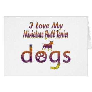 Miniature Bull Terrier designs Card