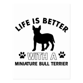 Miniature Bull Terrier designs Postcard