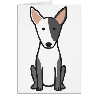 Miniature Bull Terrier Dog Cartoon Greeting Card