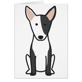 Miniature Bull Terrier Dog Cartoon Greeting Cards