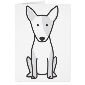 Miniature Bull Terrier Dog Cartoon Card