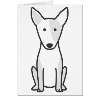Miniature Bull Terrier Dog Cartoon Note Card