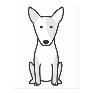 Miniature Bull Terrier Dog Cartoon Postcard
