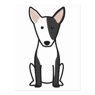 Miniature Bull Terrier Dog Cartoon Postcards