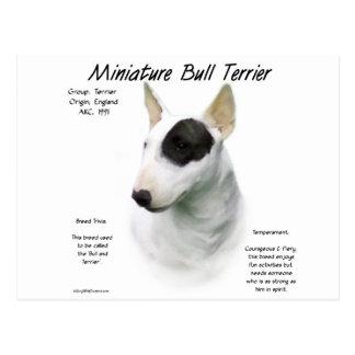 Miniature Bull Terrier History Design Postcard