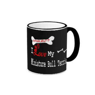 Miniature Bull Terrier I Love Mug